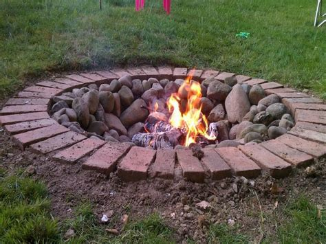 how to dig a fire pit in your backyard diy brick fire pit tutorial fire pit design ideas