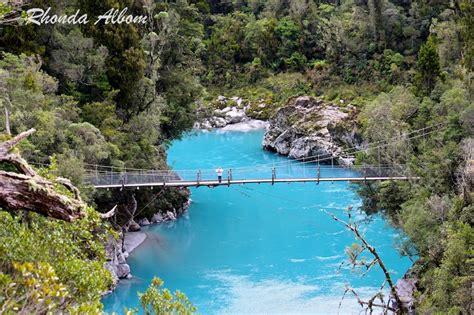 swing bridge new zealand azure waters and swing bridge at hokitika gorge new zealand
