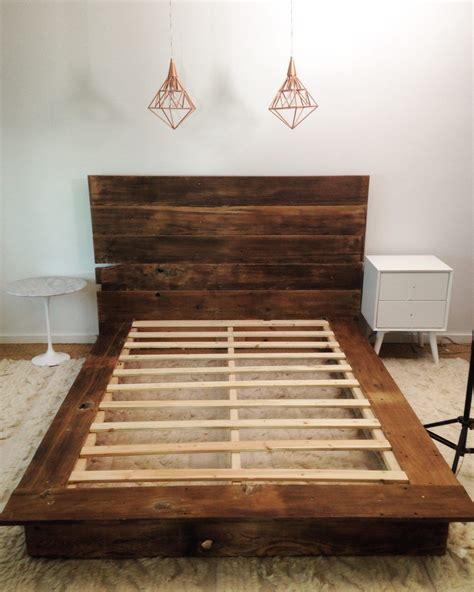diy reclaimed wood platform bed in 2018 home diy bed