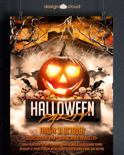 template flyer halloween 40 best halloween psd party flyer templates 2015
