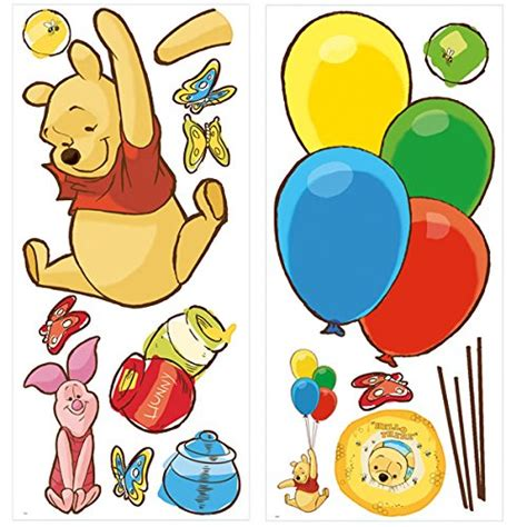 Wall Sticker Wall Stiker Wallsticker Dinding 152 Pooh Family roommates rmk1499gm pooh and piglet peel and stick wall decal tools home improvement