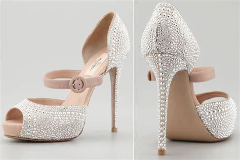 Hochzeitsschuhe Silber by Silver Studded Wedding Shoes By Valentino Onewed