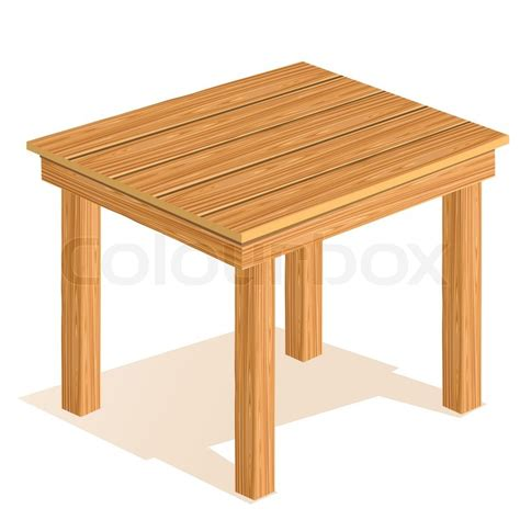 Vector Table by Vector Wooden Table Stock Vector Colourbox
