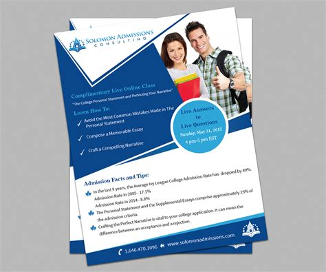Education Consulting Firms Nyc Mba by Masculine Serious Flyer Design For Vitaly Borishan By