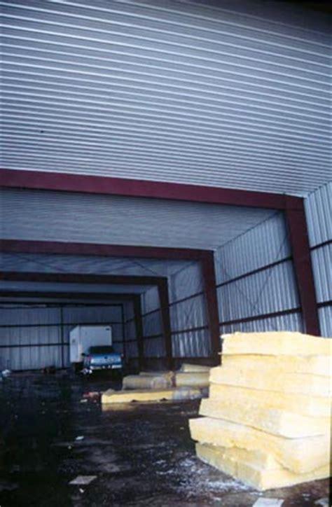 Metal Building Interior Walls by Roofer Falls Through Sheet Metal