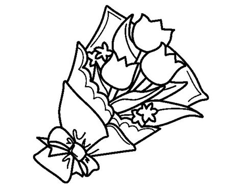 mazzi di fiori da colorare disegno di mazzo di tulipani da colorare acolore