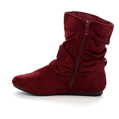 Boot Zipper Marron beston ga43 s fashion calf flat heel side zipper