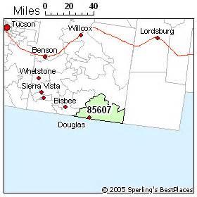 map of douglas arizona best place to live in douglas zip 85607 arizona