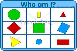who am i 2d shapes fun math games for
