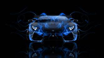 Flaming Blue Lamborghini Lamborghini Aventador Front Abstract Car 2014 El Tony
