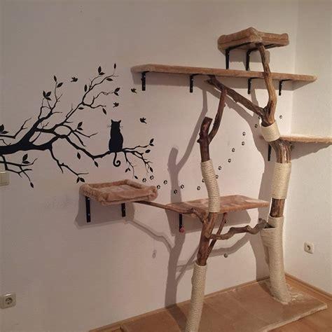kratzbaum natur selber bauen zimmerdeko machen