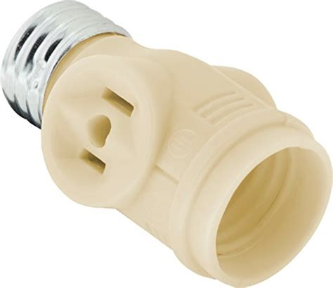 two bulb light socket ge 54178 socket adapter adds 2 outlets to a bulb socket