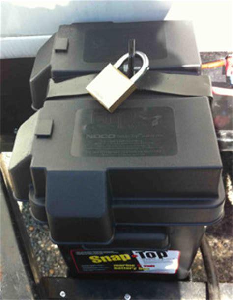 boat battery lock securing trailer batteries