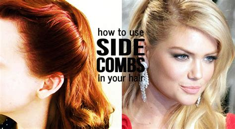 hair comb to the side but hair cut cute short on the other side for guys how to use side combs in your hair sassy dove
