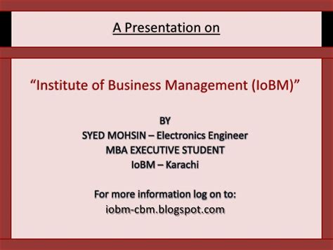 Mba In Education Management In Karachi by Institute Of Business Management Karachi Iobm Cbm Best Mba