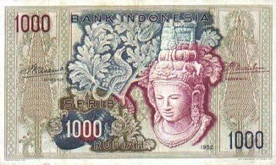 Uang Rp 1000 Tahun 1958 strano66 bentuk uang rp1000 dari tahun ke tahun