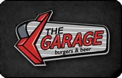Garage Gift Card - buy the garage burgers beer gift cards giftcardplace