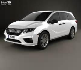 Honda Odyssey Models Honda Odyssey Lx 2018 3d Model Hum3d