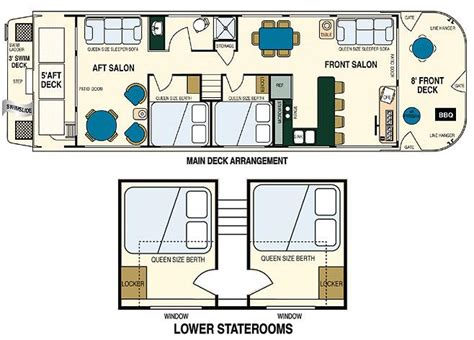 houseboat floor plans lady of the lake houseboat