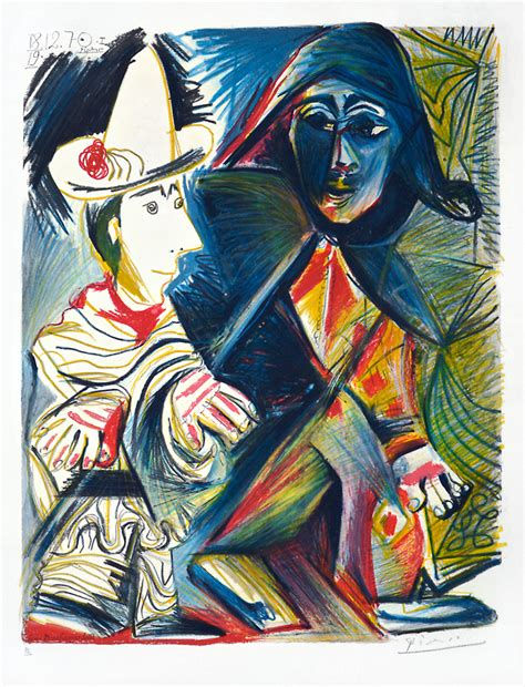 picasso paintings clowns pablo picasso the clown and the harlequin le clown et l