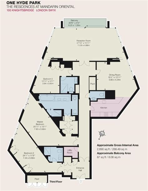 hyde park floor plan 3 bedroom flat for sale in one hyde park knightsbridge sw1x