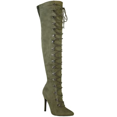 the knee high boots womens thigh high the knee stiletto heel boots