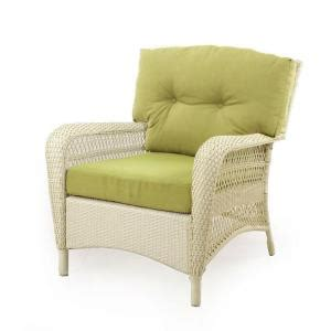 Martha Stewart Living Patio Furniture Cushions Martha Stewart Living Charlottetown Seashell All Weather Wicker Patio Lounge Chair With Green
