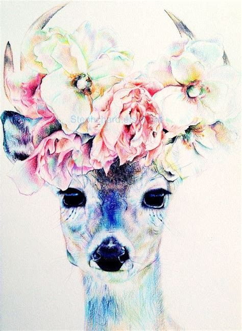 flower crown tattoo deer with flower crown inspiration tattoos i