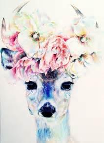 animal head tattoo tumblr deer with flower crown tattoo inspiration deer