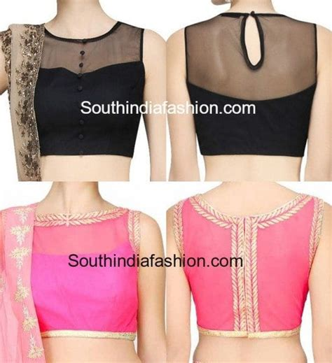 boat neck net blouse stunning net blouse designs south india fashion