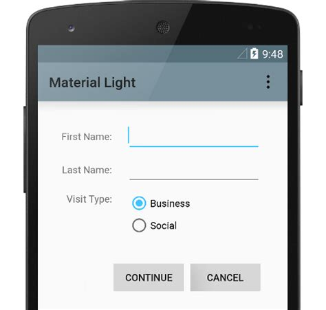 layout used in android design material design for android android developers