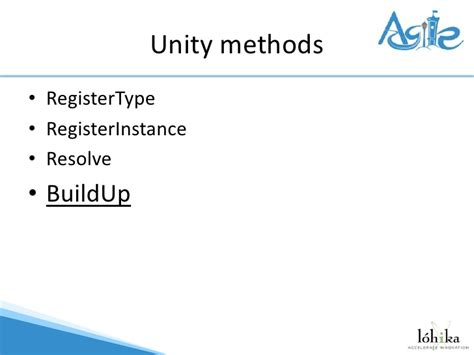 unity dependency injection setter dependency injection або don t call me i ll call you