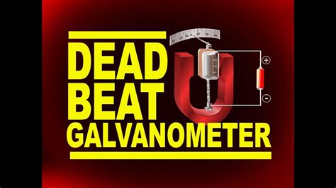 Dead Beat dead beat galvanometer application of eddy current