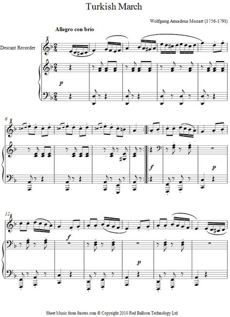 tutorial piano turkish march 23 best recorder images on pinterest sheet music