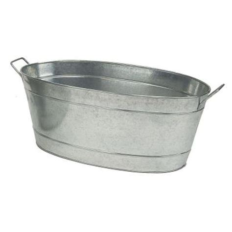 achla designs large oval steel tub c 55 the home depot