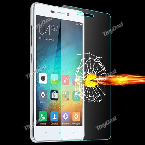 Tempered Glass Screen Protector Ultra Thin Xiaomi Redmi 4x Cover 0 3mm ultra thin tempered glass screen protector f xiaomi redmi 3 e 512338 tinydeal