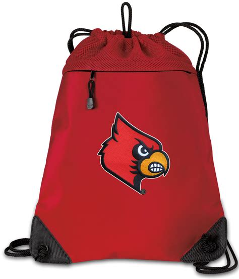 String 1 Bag louisville cardinals drawstring backpack bag mesh