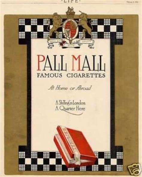 pall mall colors vintage tobacco cigarette ads of the 1910s page 7