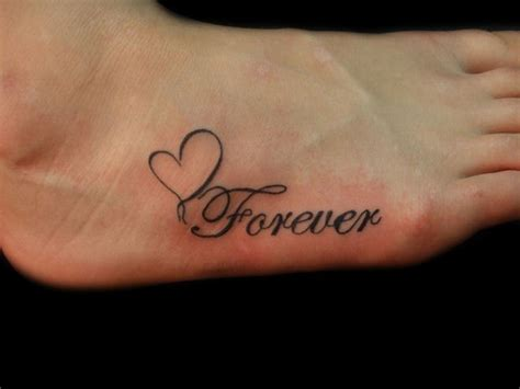 forever and always tattoo forever foot by demonsin sanctus on deviantart