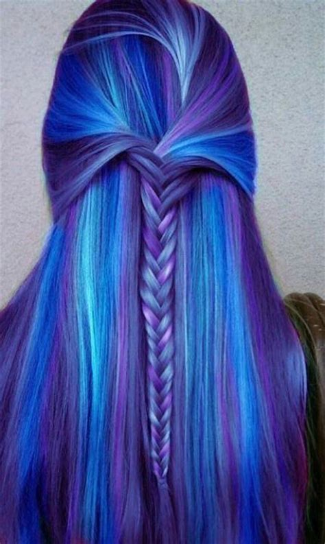 pretty blue colors hair color to try marvelous purple hair for chic