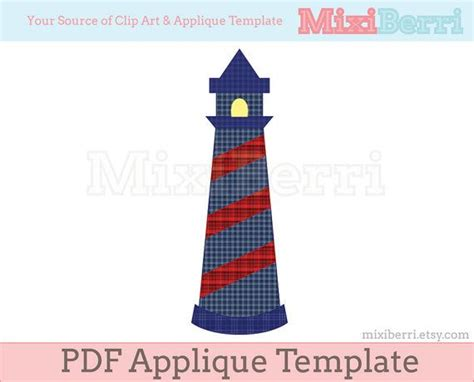 lighthouse template craft applique pattern lighthouse pdf applique template instant