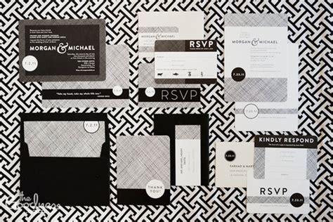 black white wedding invitations modern black white wedding invitations invitation crush