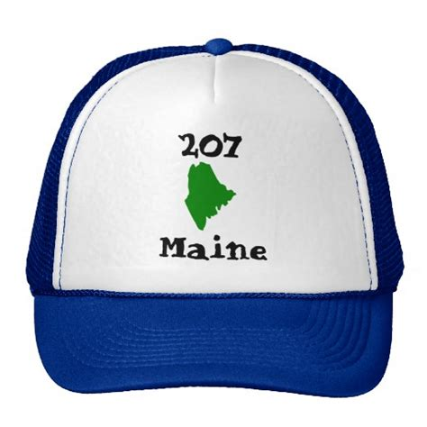 area code 207 207 area code of maine trucker hat zazzle