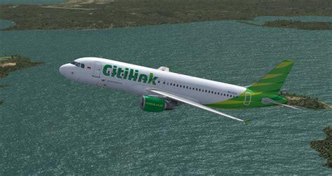 citilink airbus x livery fs freeware net garuda indonesia citilink pk glv a320 200