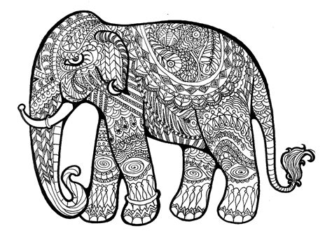 coloring pages for adults elephant free coloring pages of paisley elephant