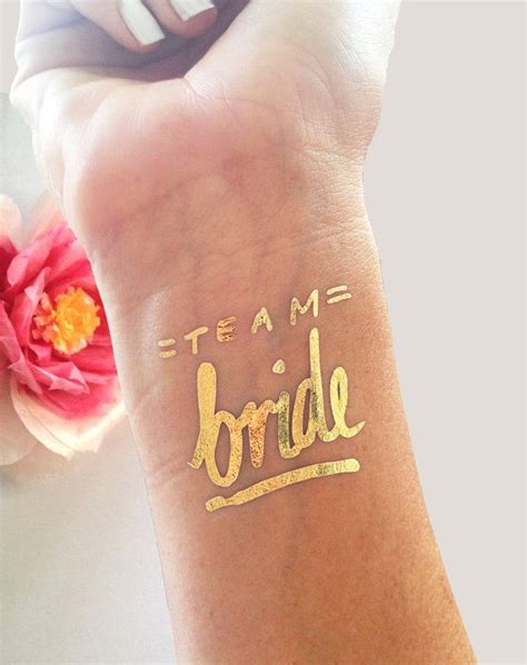 bachelorette party tattoo team bride tattoo 169 set of 12