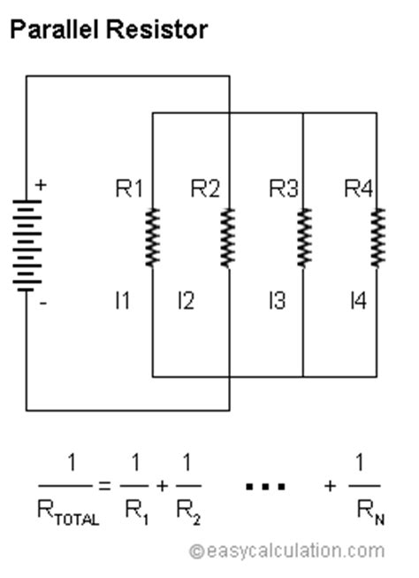 calculate resistor parallel list of all electrical engineering formulas