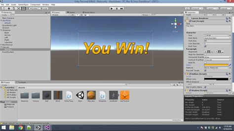 unity tutorial interface unity tutorial knockdown part 3 goal and user interface