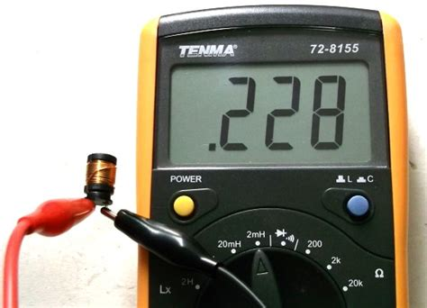 inductor measure tenma 72 8155 digital lcr meter embedded lab