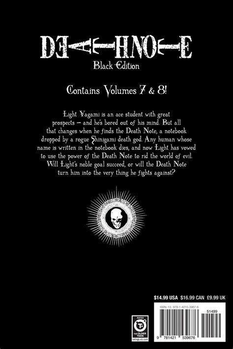 note black edition vol 2 note black edition vol 4 book by tsugumi ohba